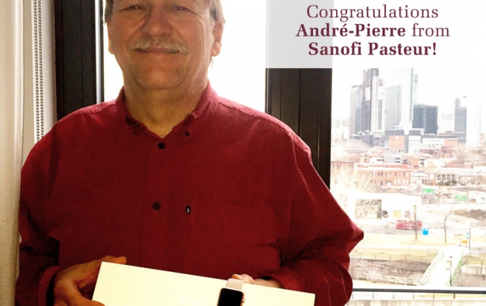 Andre-Pierre from Sanofi Pasteur wins Watch