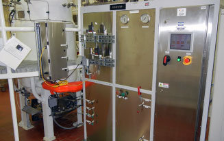 Pharmaceutical bioprocess control system case study, new control unit in cabinet